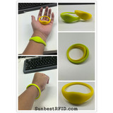 RFID silicone wristband tag for ID management