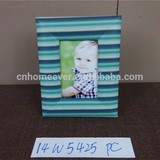 Blue leather cover photo frame