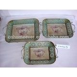 Antique iron serving tray