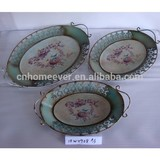 Oval shape metal serving tray
