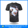 wholesale hip hop clothing black cottton funny 3d t-shirt
