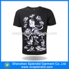 animal printing fashion black t-shirts t shirt manufacturer china