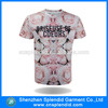 custom t shirt printing men clothes pink flowers all over print t-shirt