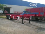 carbon steel 2 axle swivel wheel flatbed trailer (size optional) for Angola\Congo