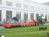 3 axles platform side wall open tailgate lowbed semi trailer for sale for Angola\Congo