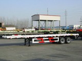 40ft tri axle flatbed container carrier truck semi trailers manufacturers (twist locks and size optional) for Angola\Congo