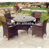 Wicker dining table and chair furniture for heavy people