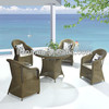 2014 new products hot sale outdoor furniture garden wicker dining table and chair