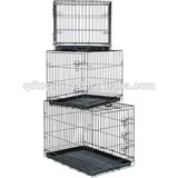 Multicolor Wire Folding Two Door Pet Dog Cage