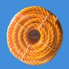 3 strands golden brown twist PE rope with high quality