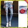 women denim jeans with badge skinny girl summer design jeans