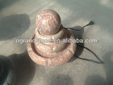 Red Lines Marble Fountain Ball Custom, Small Water Fountains