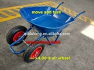 100L two wheels tip wheelbarrow