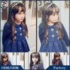 Winter Thick Steam Velour Kids Clothes Peter Pan Collar Beaded Flower New Fashion Girls Formal Party Dress