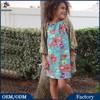Hot Sale!The Latest Beautiful Flower Print Designs New Style Girls' Fashion Dress
