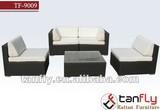 5pcs luxury rattan wicker sofa Set coffee table TF-9009, wholesale furniture china