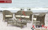 TF-9040 Living room sofa Outdoor Wicker Rattan Table & Chairs Chair Lounge Sofa Couch Furniture Setting