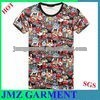 custom t-shirt trendy men t-shirt cartoon print multicolor t-shirt