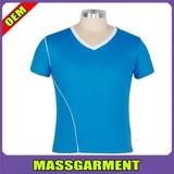 2014 v neck mesh dry-fit sports t shirts