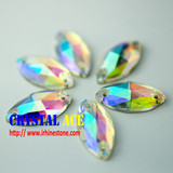 Sparkle boat crystals rhinestone, boat sewing glass stone, navette rhinestone sewing for garment