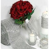 Wholesale 4.65''X10 yards artificial rhinestone trimming diamond wrap roll for gifts