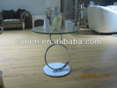 Modern hotel stainless steel glass coffee table B026