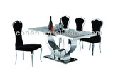 2015 New modern design marble dining table /hot selling stainless steel dining table for home used