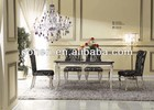dining room table with marble top AH102
