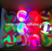 cat toy ball, BB sound the horn luminous volleyball CM7.5 with rope flash elastic ball color light