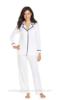 Wholesale 2015 Hot Sale 100% Cotton Long Sleeve Notch Collar Top and Pajama Pants Set sleepwear
