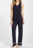 Wholesale 2015 Popular Woman Charmeuse Trim Jersey Pajamas Sleepwear