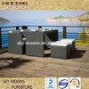 popular synthetic PE rattan outdoor rattan dining table chairs(TC016)