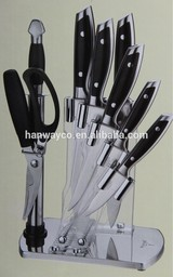 stock lot 8PCS Stainless steel knife set CHEF'S KNIFE overstock BREAD KNIFE inventory SLICER KNIFE closeout UTILITY PARING KNIFE