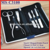 (MS-C3100) C Shaped Steel Frame Pouch 7 PCS Manicure & Pedicure Set