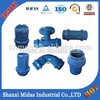 Ductile iron pipe fittings for pvc pipe
