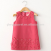 Eco-friendly custom sleeveless breathable baby flower appliqued girl dress