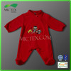 high quality Wholesale red Long Sleeve baby boy romper with feet