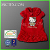 Custom new design red baby girl clothes kid dress