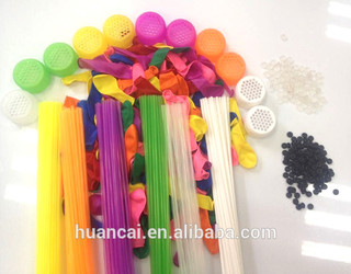 Mixed color balloons and 7 colors integrated tubes magic water balloons,37pcs/set