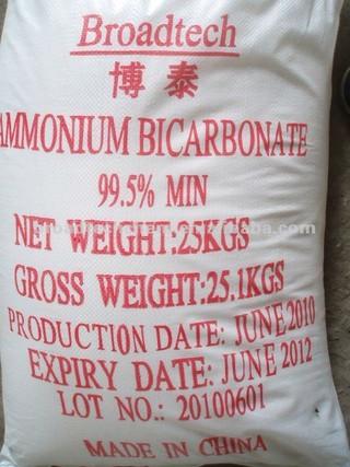 High Quality Ammonium Bicarbonate Food Grade 99.5%