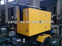380V 50HZ water cooled 8kw 10KVA 4x1000W,50hz,9m height, Diesel Mobile light tower/trailer light tower