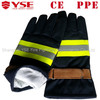 Nomex anti fire gloves with reinforced leather palm