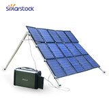 Portable Mini Generator with Solar Home Lighting System and Rechargeable Battery