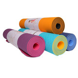 DM Premium tpe Yoga Mats Extra Long TPE Yoga Mat, Non Slip Exercise Mat with SGS TEXT, Eco-Friendly without Chemical Smell,1/4 inch thick, Washable and Durable, Difficut to Deform
