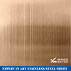Bronze Color Stainless Steel Sheet Hairline Finish