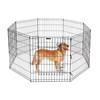Folding Metal Dog Exercise Fence Pet Playpen Dog Exercise Playpen