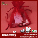 Rose Organza Bag With Rose Ribbon