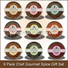 9 Pack Chef Gourmet Spice Gift Set