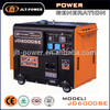 JD6000SE Electric starting with battery portable generator silent diesel 5kva generator