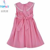 Wholesale 2014 Kids Clothes Cartoon Print Short Sleeve Girls Dress Children Summer Dress